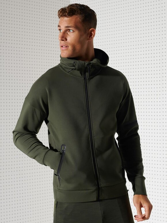 Superdry - TRAINING GYMTECH ZIPHOOD