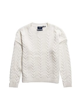 Superdry - DROPPED SHOULDER CABLE CREW