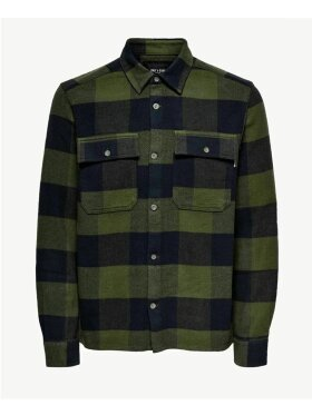 Only and Sons - ONSSCOTT LS CHECK FLANNEL OVER